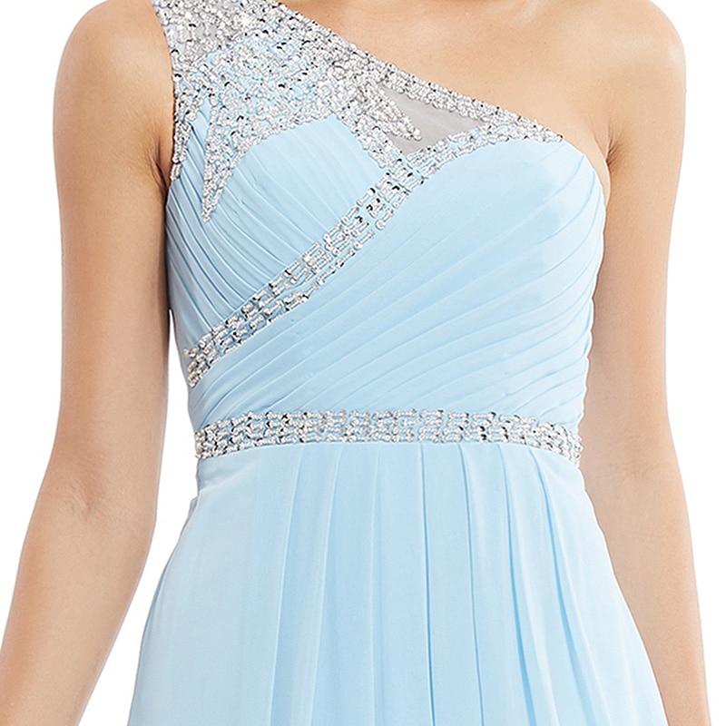Tanpell une épaule robe de soirée pas cher ciel bleu sans manches - Habillez-vous pour des occasions spéciales - Photo 4