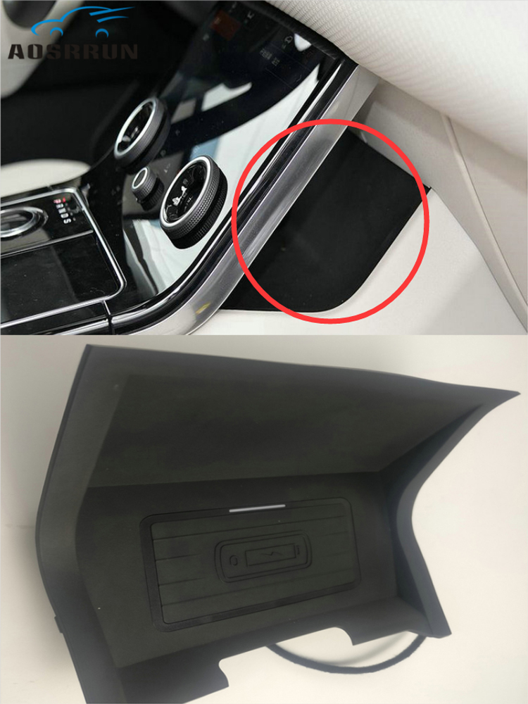 Special On-board QI Wireless Phone Charging Panel  Car Accessories For Range Rover Velar 2017 2018 2019 2020
