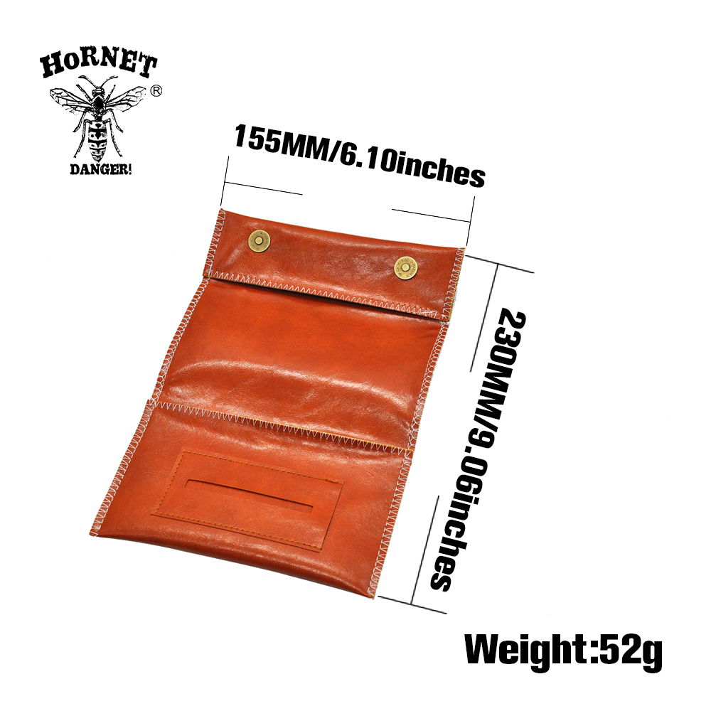 HORNET Leather Tobacco Pouch Portable Cigarette Rolling Pipe Tobacco Bag Case Wallet Tip Paper Holder Smoking Accessories 2