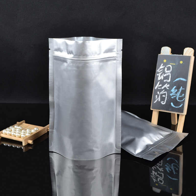 Aluminum foil vertical Seal coffee tea blank Self-sealed bag Moistureproof ziploc food packagingbag  Recyclable 100pcs