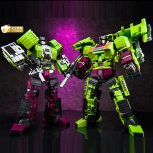 Image 3 - Jinbao GT Devastator dönüşüm G1 boy 6 IN1 Bonecrusher kazıyıcı mesafe Mixmaster kanca KO aksiyon figürü Robot oyuncaklar hediyeler
