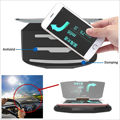 Rotatable Car SUV GPS Navigation HUD Head Up Display Phone Mount Support Bracket For iPhone7 Android SmartPhone 3.5-6.6inch