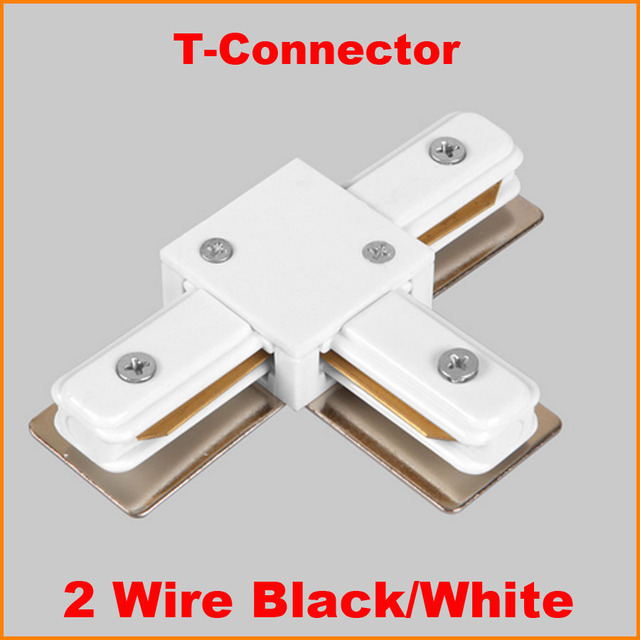 Exceptional 2 Wire Phase LED Track Light Rail Connector Track Lighting Fitting T Track  Rail Connector Aluminum