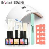Rosalind New Arrival 10ML UV Gel Kit Soak off Gel Polish Gel Nail Kit Nail Art Tools Sets Kits SUN9C Manicure Set