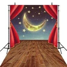 Noite de Lua Fotografia Backdrops Vinil Fundos Para Estúdio de Fotografia Pano de Fundo Para A Fotografia de Recém-nascidos Crianças Estrelas Fotografica