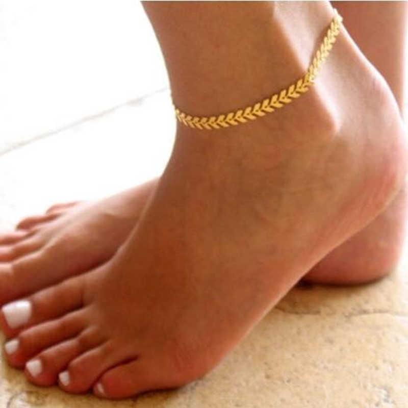 Bohemian GOLD สี Arrow ขาสร้อยข้อมือ VINTAGE โยคะข้อเท้าชายหาดฤดูร้อนสไตล์รองเท้าแตะรองเท้า Barefoot แฟชั่นเครื่องประดับ