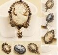 Cigana acessórios do punk jóias antique bronze luxo cristal grande broche blazer/broches strass/bijoux/cameo pin/crachá/barato