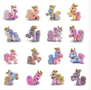送料無料8ピース/ロットプリンセスコレクションpvcフィギュア小さな馬クリスマスギフト誕生日ギフト