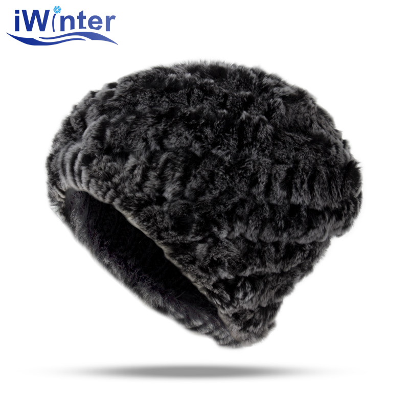 IWINTER Rabbit Hair Skullies Beanies Winter Hat For Women Men Warm Hat Leisure Winter Hat Rabbit hair Winter Cap Thicker Cap princess hat skullies new winter warm hat wool leather hat rabbit hair hat fashion cap fpc018