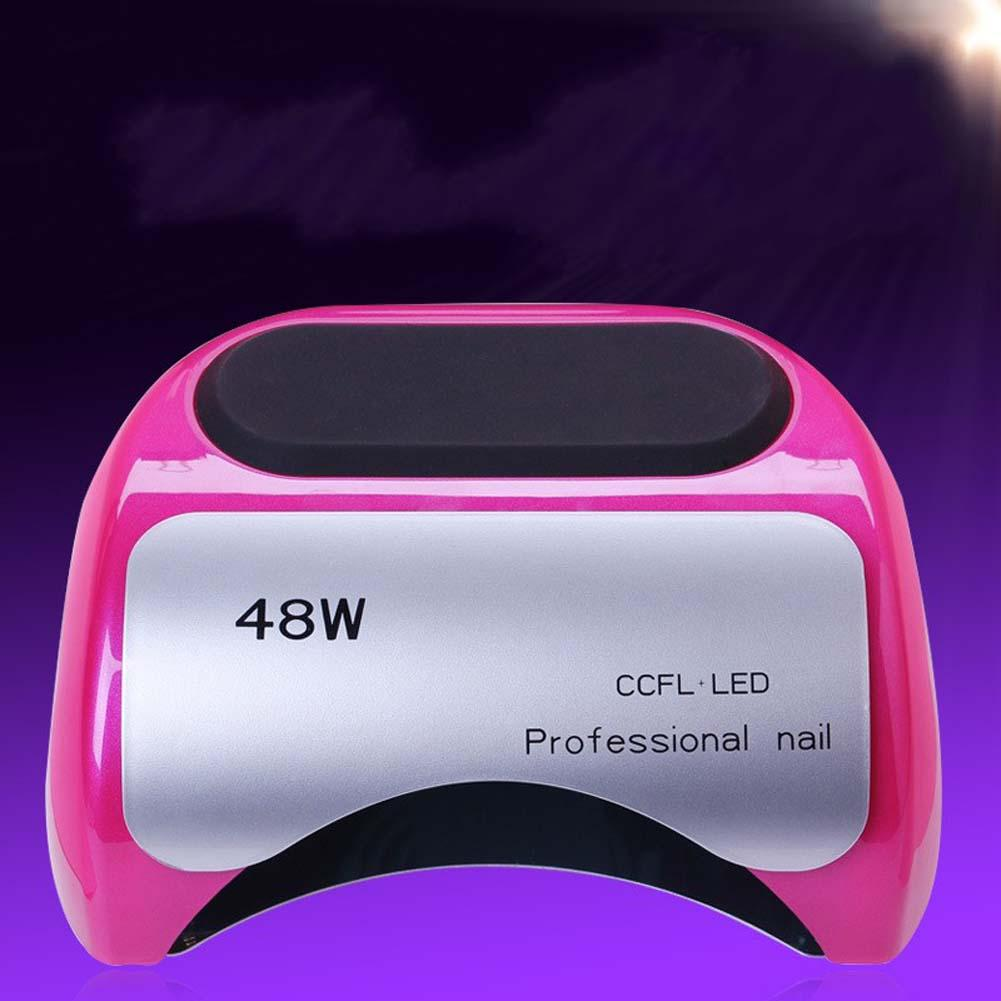 48W UV Lamp Nail Dryer LED Lamp for Nails Gel Dryer Nail Lamp Phone Shape Curing UV Gel Polish Nail Art for EU Plug Rose Red titoni часы titoni 83838 sy 535 коллекция space star