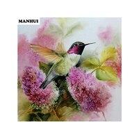 Square Diamond Mosaic Painting Flowers Birds Map Handmade Diamond Painting Cross Stitch Set Diamond Embroidery
