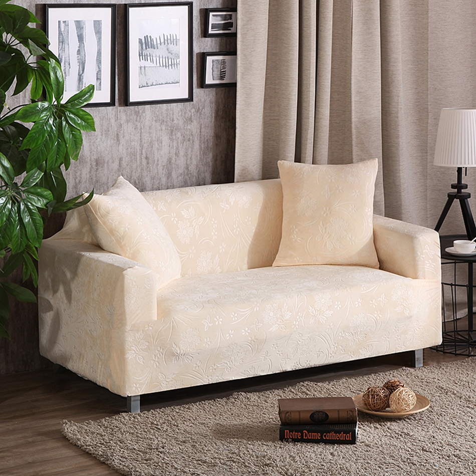 Beige universal stretch sofa covers multi size elastic home decoration couch corner sofa covers anti dirty