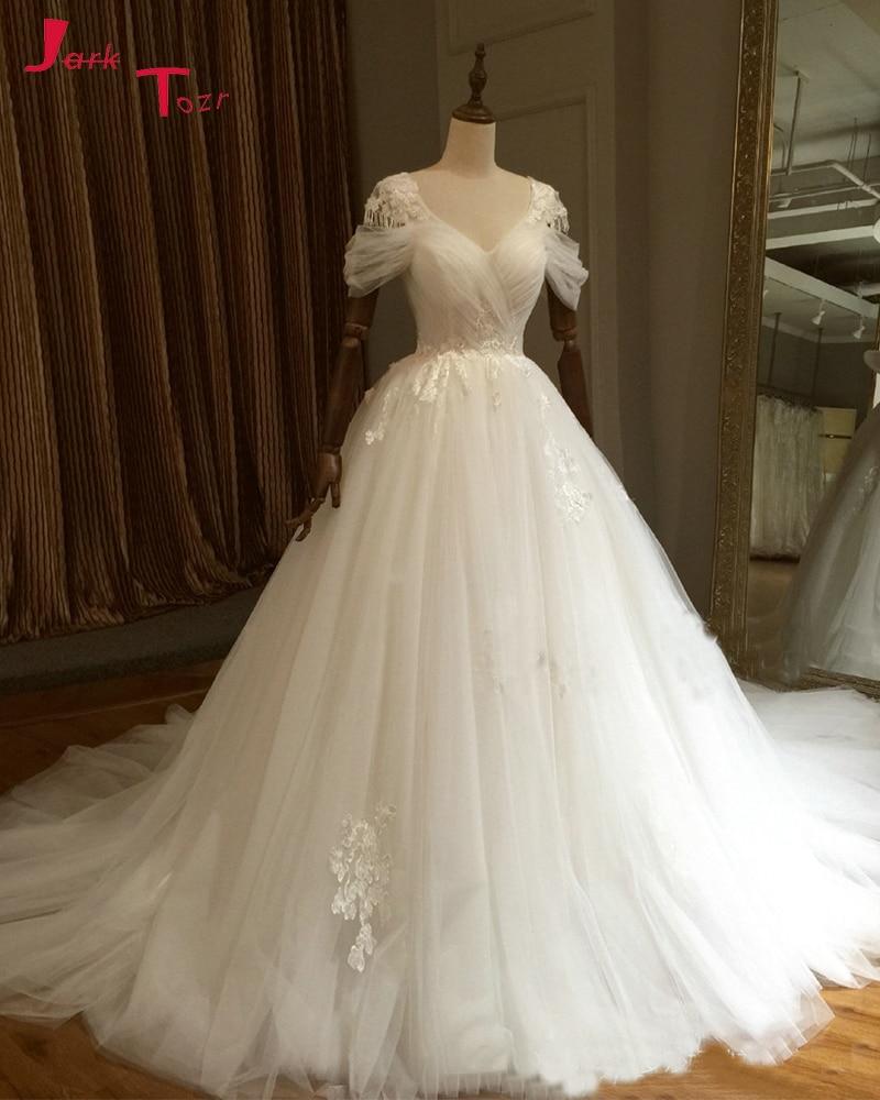 Bodice Wedding Gown: Jark Tozr 2019 Vestido De Novia Princesa Pleated Bodice