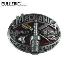Bullzine großhandel westlichen mechaniker werkzeug cowboy jeans geschenk gürtel schnalle zinnende FP 03643 für 4 cm breite gürtel