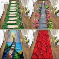 3D carpet Living room bedroom hall Entrance corridor aisle flloor mat bathroom Kitchen anti slip door mat Creative landscape rug