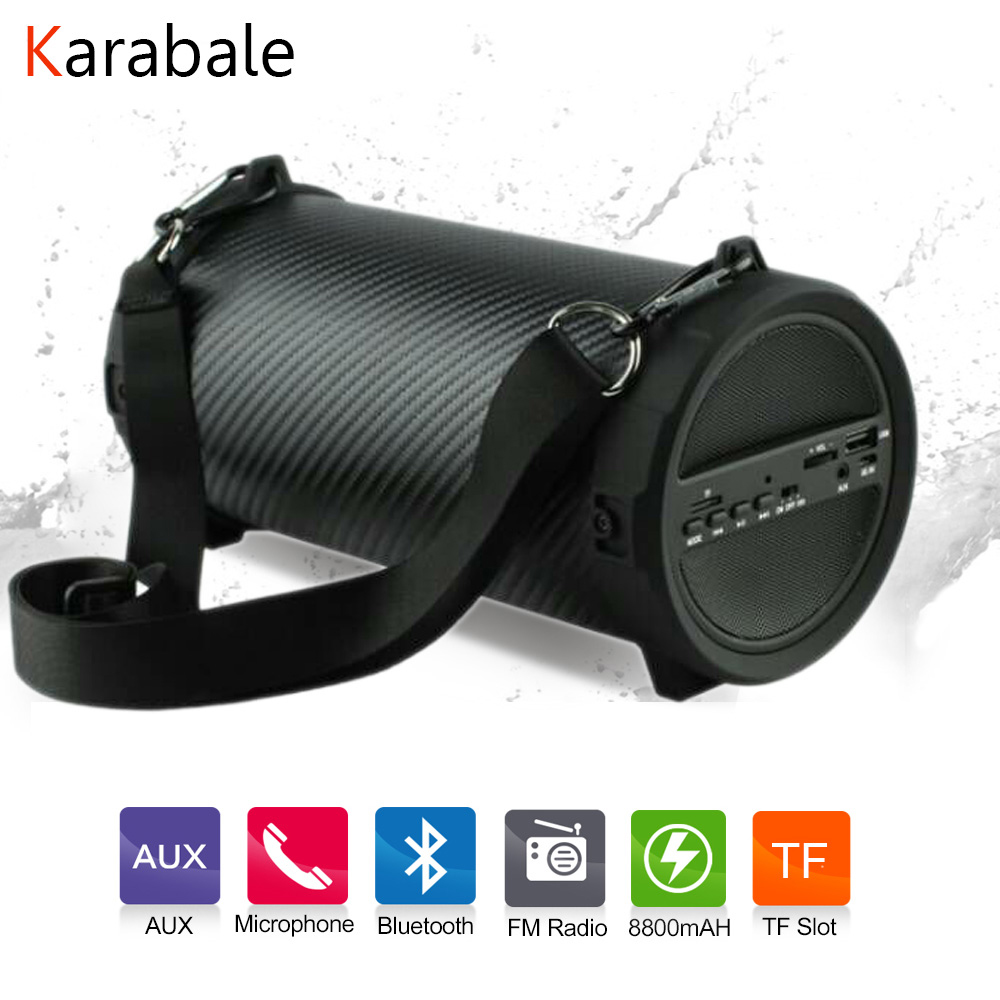 Speakers Subwoofer Mp3-Player Power-Bank Fm-Radio Outdoor Portable Wireless Mic Newest