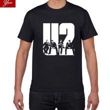 T-Shirt à manches courtes et col rond pour homme, haut au design U2, en coton, à la mode, 103, 2018