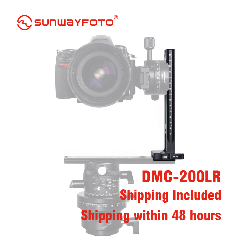 SUNWAYFOTO DMC-200L головка штатива быстросъемная пластина для DSLR камеры штатив пластина Вертикальная рейка с винтовой ручкой штатив пластина
