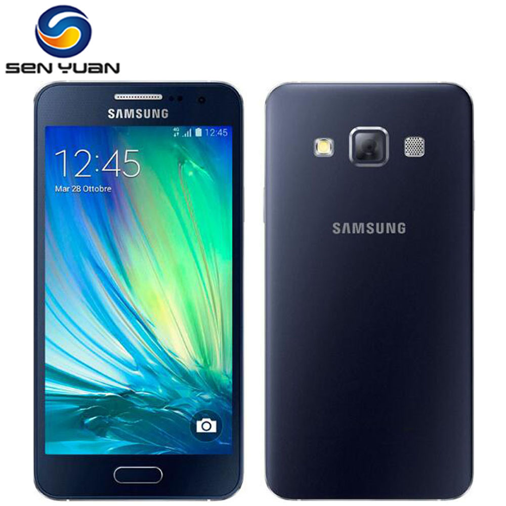 """bilder für Samsung galaxy a3 a3000 ursprünglicher freigesetzter 4g handy dual sim quad core 4,5 """"8MP 16 GB ROM WIFI GPS handy"""