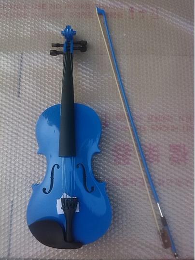 ФОТО High quality BLUE color violin 1/4 violin handcraft violino Musical Instruments
