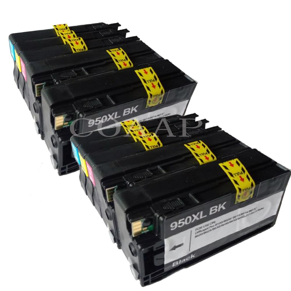 10 Compatible HP 950XL 951XL Four Pack Black Color Ink hp Officejet Pro 8600 8610 8615