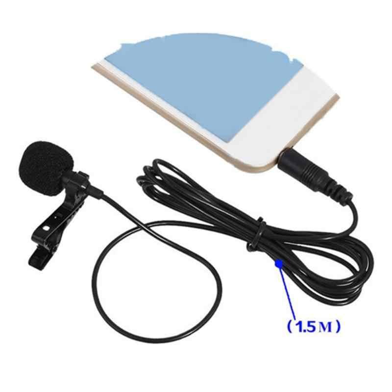 1/2 pièces/ensemble micro pince-on collier cravate téléphone portable Lavalier Microphone micro pour iOS Android téléphone portable ordinateur portable tablette enregistrement