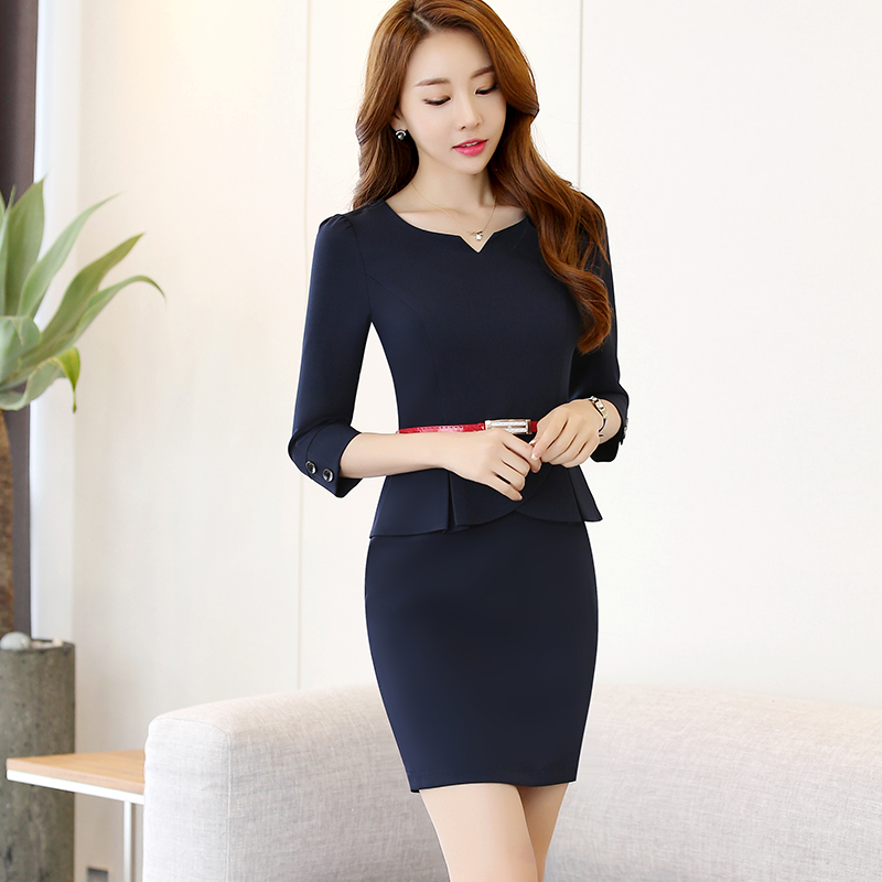 352a4fb09b0 Sweetheart Neckline Women Slim Office Lady Red Half Sleeve Dress Career  Apparel Work Wear Chinese Summer Style Without Lining-in Dresses from  Women s ...