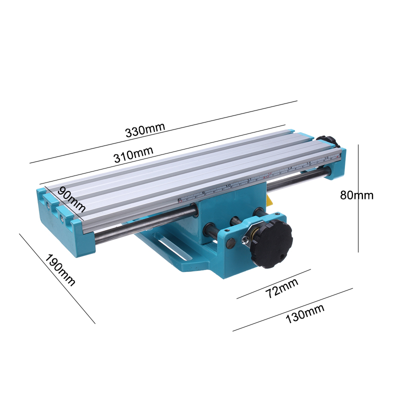 Mini Präzision Fräsmaschine Arbeitstisch Multifunktions Bohrer Schraubstock Leuchte Arbeitstisch X Y-achse einstellung Koordinieren tisch