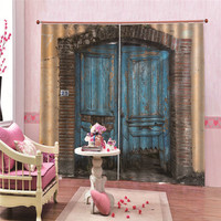 Wooden Door Modern Blackout Curtains For Living Room Window For Bedroom Curtains Fabrics Ready Made Finished Drapes Blinds Tend