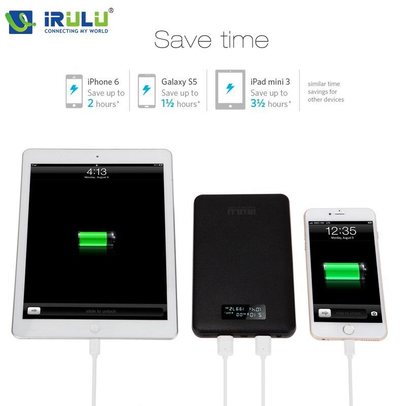 iRULU Real Capacity 19999mAh Power bank 2 USB Backup Battery