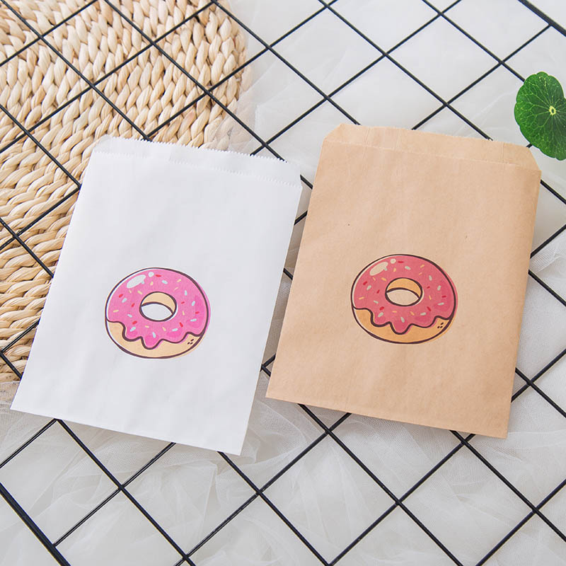 Set Of 25 Donut Theme Birthday Party Decorations - Candy Favor Bags For Cookies,Popcorn,Buffet Favor Gift Bag