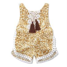 RECALLTIMES baby girl summer sleeveless lace romper