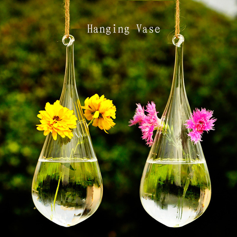 Aliexpress.com : Buy Clear Glass Decorative Hanging Vases ...