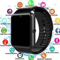 Astuto Della Vigilanza GT08 Orologio di Sincronizzazione di Notifier Supporto Sim Carta di TF Lega di Connettività Bluetooth Android Phone Smartwatch Smartwatch