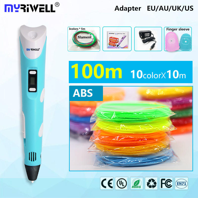 myriwell 3d pen 3d pens,LED display,abs/pla Filament,3 d pen 3d model Smart 3d pen 2018 Best gift of children painting creative myriwell 3d pen led display 1 75mm pla filament abs 3d pens 3 d pen 3d handle smart child birthday gift toys abs plastic