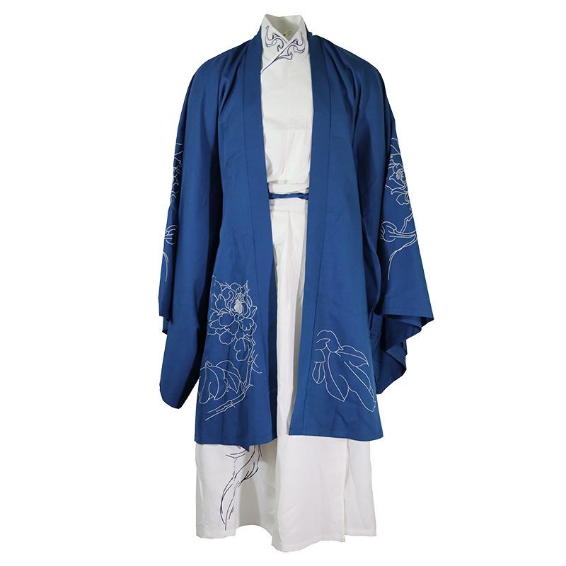 Embroidery Hanfu Chinese Classical Dance Costume Festival Outfit Rave Performance Clothes Men Women Folk Stage Costumes DF1152