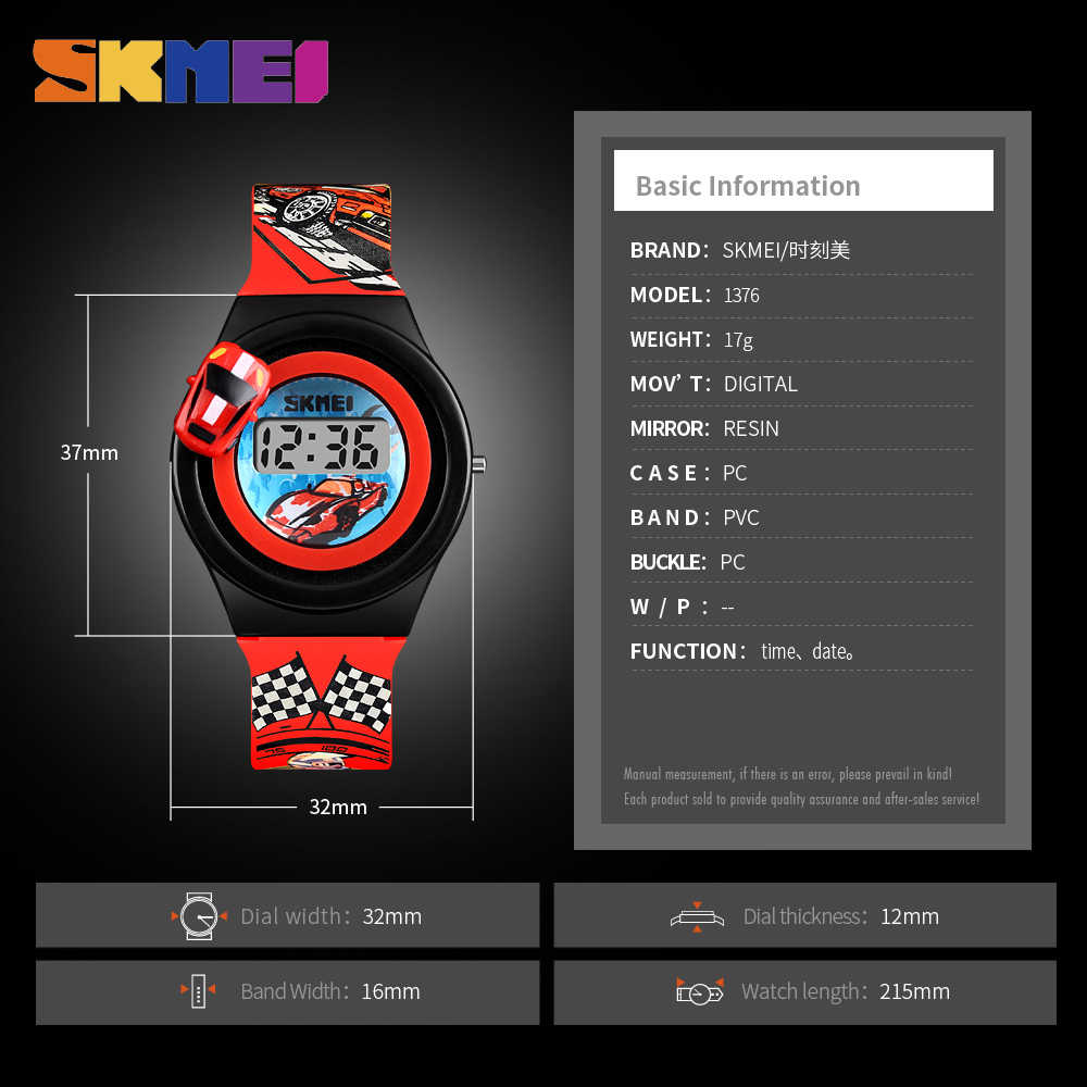 Skmei niños reloj Digital del deporte de la historieta colorido niños niñas relojes de moda electrónica Relojes Para Niños Niñas