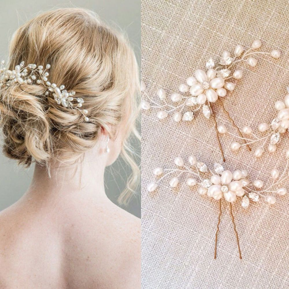 1 Pc Festival Wedding Hair Accessories Bridal Hair Stick Floral Hairpin Beautiful Headdress Plait Hair Clip Vine Accessories