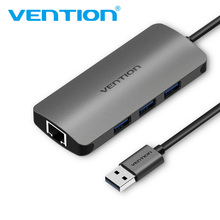Vention USB 3.0 HUB To RJ45 Gigabit Network Card Lan Adapter Ethernet For Android TV Set-top Box Laptop Windows 7 8 XP 10
