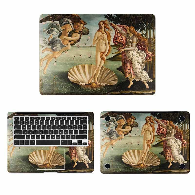 O Nascimento de Vênus Capa Full Body Adesivo de Pele para Macbook Pro Air Retina 11 12 13 15 polegada Mac HP Mi Superfície Livro Laptop Decalque