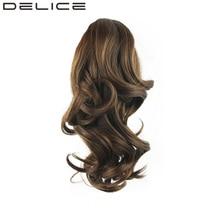"""[DELICE] 14 """"/36 см Клип В женщин Волнистые Коготь Ponytail With Elastic Drawstring Термостойкость волокна Синтетические Волосы"""
