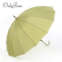 Only Jime Green Big Umbrellas Rain Women Waterproof Long Handle Umbrellas Windproof High Quality Rain Gear Umbrellas