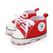 Toddler Kids Boys Girls Shoes Spring /autumn Canvas Sneakers High Top Lace Up