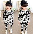 Retail 2016 the new girls clothing sets for children's baby cute shirt and casual pants in the spring and autumn fit boys girls
