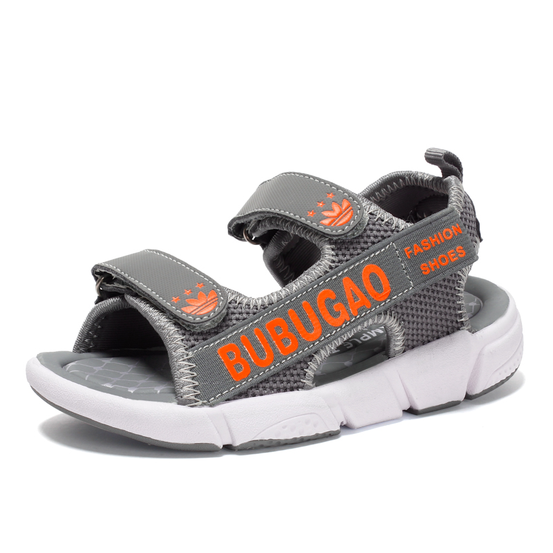 2018 Summer Kids Sandals PU Leather Breathable Casual Beach Outdoor Water Children Fashion Flat Comfortable Boys Beach Shoes