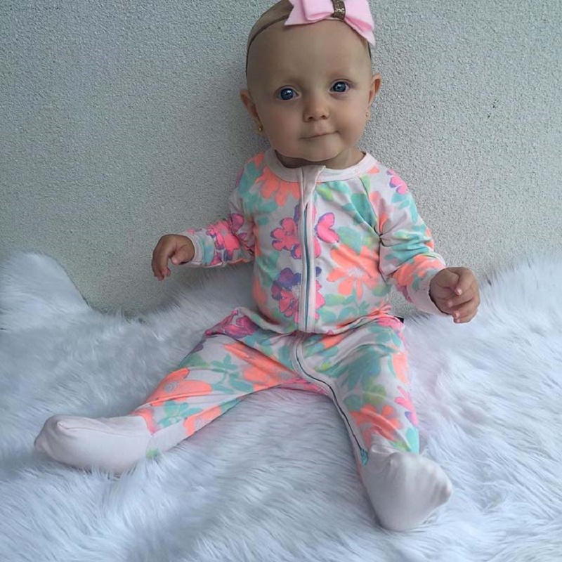 2017 Fashion Christmas Baby Rompers Long Sleeve Pajamas Newborn cotton Baby Jumpsuit baby romper with zipper kid romper SR117 newborn baby rompers baby clothing 100% cotton infant jumpsuit ropa bebe long sleeve girl boys rompers costumes baby romper