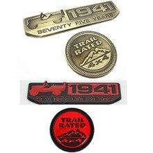 1941 75 Yıl Trail Rated 4x4 Amblem Rozeti Amblemler Rozetleri Jeep Willys için JK Cherokee TJ Wrangler Pusula patriot Kılavuz Wagoneer
