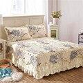 Famvotar необычная хлопковая стеганая Кружевная юбка-пасторальная юбка-кровать с цветочным принтом 23 стиля стеганое хлопковое кружевное покры...