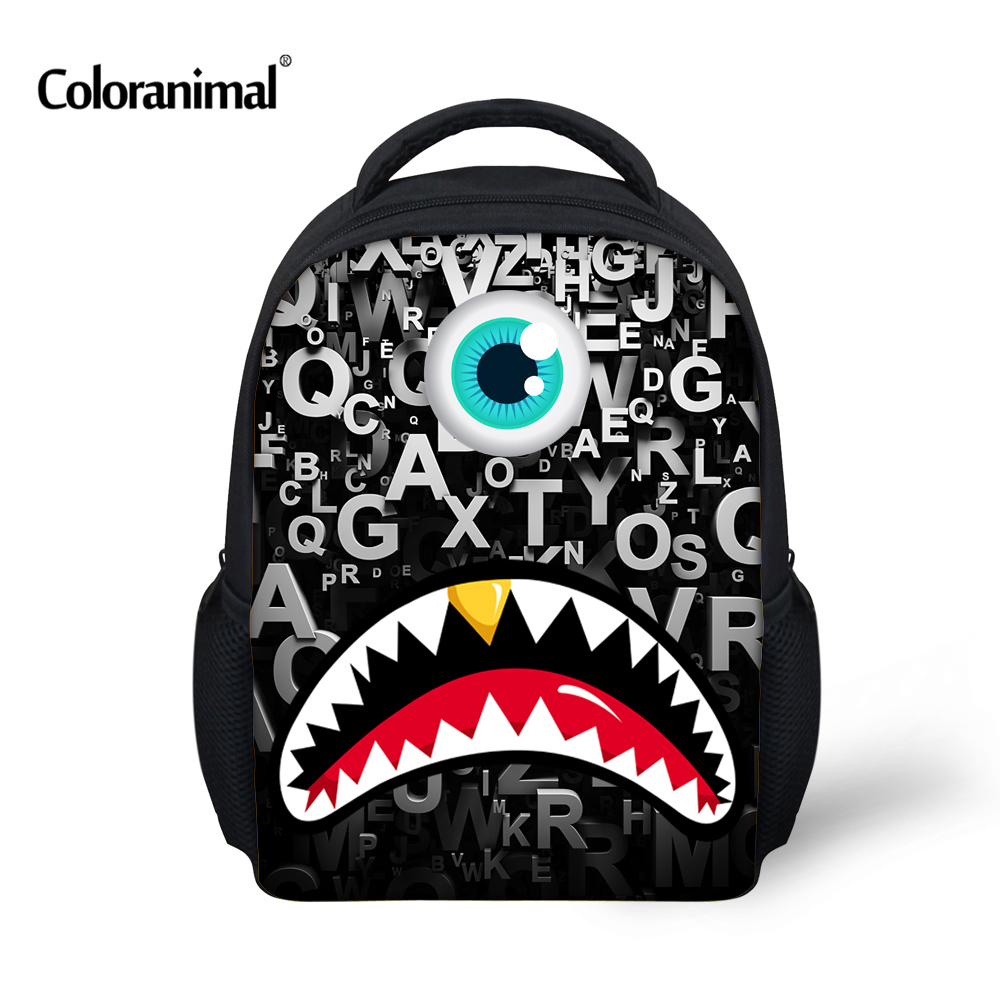 Coloranimal Cute Monster Print Children School Backpacks Small Baby Boys Bagpack Fashion Preschool Kindergarten Backpack Mochila ...