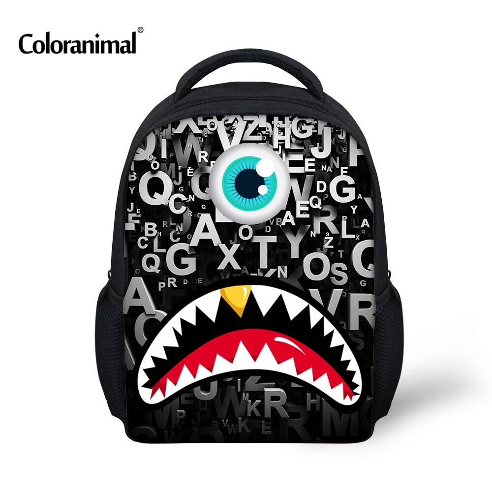 Coloranimal Cute Monster Print Children School Backpacks Small Baby Boys Bagpack Fashion Preschool Kindergarten Backpack Mochila ...